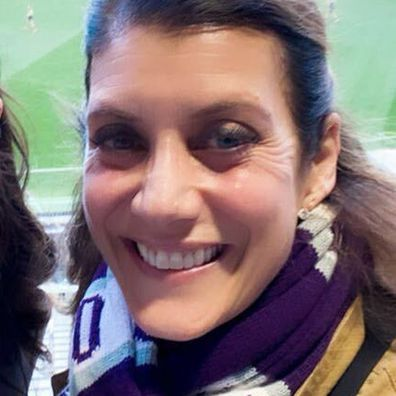 Kate Walsh wore a Fremantle Dockers scarf at the AFL Western Derby