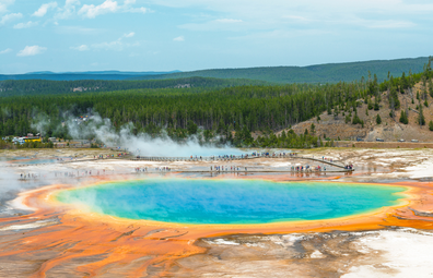 Yellowstone National Park's Grand Prismatic hot spring