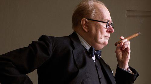 Gary Oldman as Winston Churchill in Darkest Hour. (AAP)