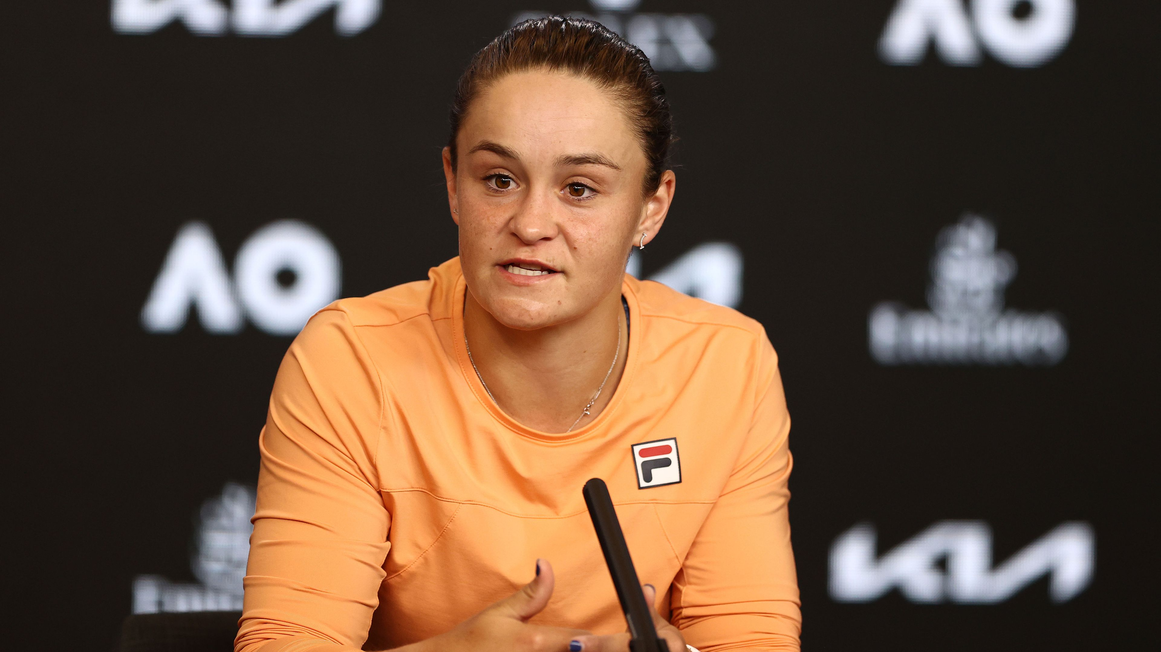 Ash Barty talks about her Australian Open quarter-final loss in her press conference.