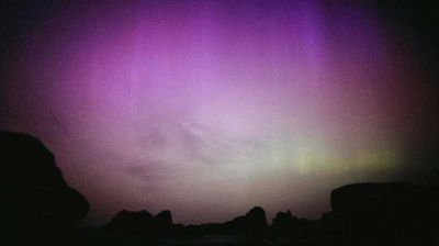 The rare event was also witnessed in the Northern Hemisphere over parts of the US and Europe, where it is called aurora borealis.  (Twitter)
