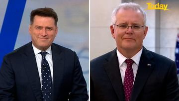 Scott Morrison insisted he was fine, after Today host Karl Stefanovic suggested the prime minister ought to be happier this morning.