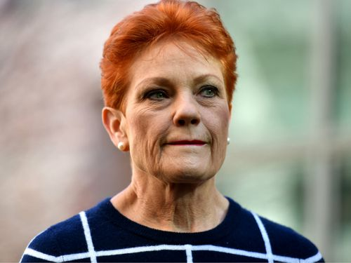 Pauline Hanson is refusing to support the company tax cuts bill. Picture: AAP