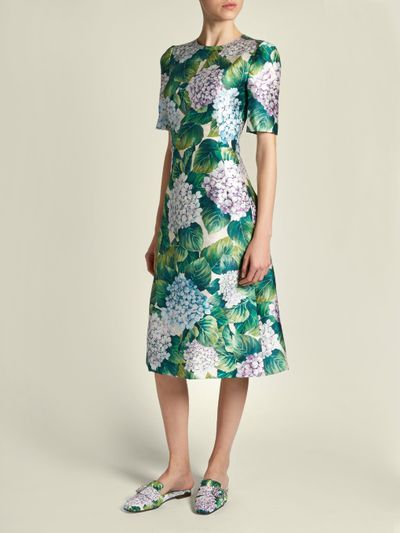 "Dolce &amp; Gabbana hydrangea dress, $2921 at <strong><a href=""http://www.matchesfashion.com/au/products/Dolce-%26-Gabbana-Hydrangea-print-A-line-shantung-dress-1152260"" target=""_blank"">matchesfashion.com</a></strong><br />"