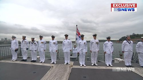 The HMAS Melbourne returned home to Australia today after six months at sea.