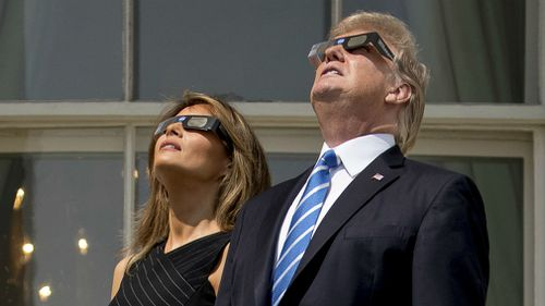 President Donald Trump and First Lady Melania Trump. (AAP)