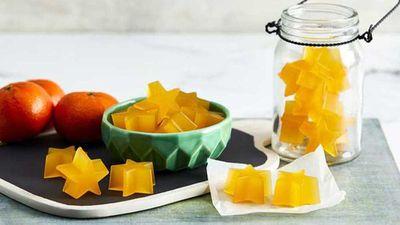 "Recipe:<a href=""http://kitchen.nine.com.au/2017/09/04/14/27/mandarin-gummies"" target=""_top"">Mandarin gummies</a>"