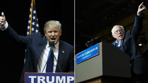 Bernie Sanders and Donald Trump win New Hampshire primaries, according to US media projections