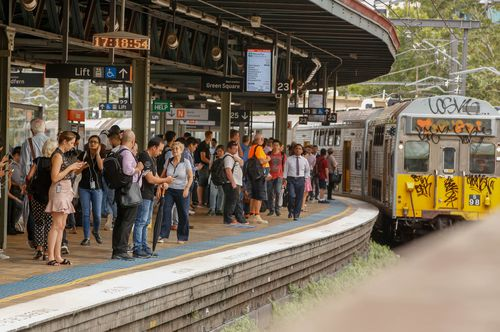 Commuters wait for delayed trains at Central Station. (AAP)