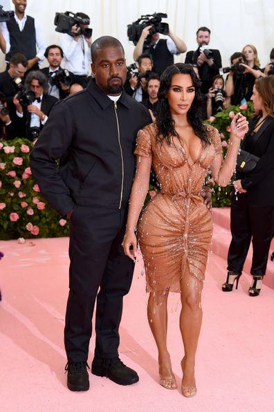 Kanye West, Kim Kardashian, Met Gala, red carpet