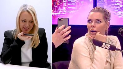 Jackie 'O' Henderson pranks Sophie Monk with a 'super fan'.