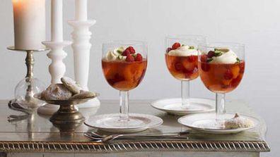festive peach melba recipe