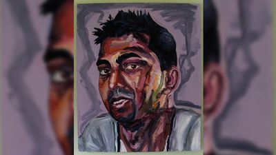 A portrait of Myuran Sukumaran's brother Chinthu, produced earlier this year. (Facebook)