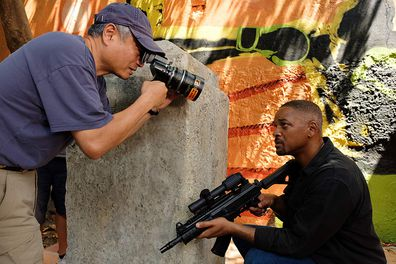 Ang Lee and Will Smith in Gemini Man