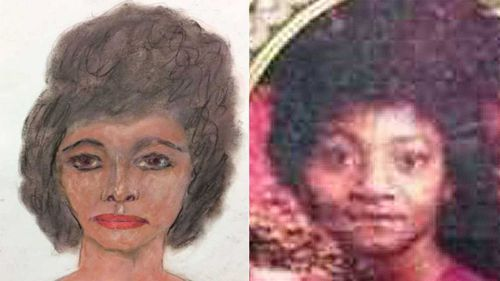 The sketch next to the possible victim.