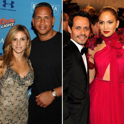 Alex Rodriguez, Cynthia Scurtis, Jennifer Lopez and Marc Anthony