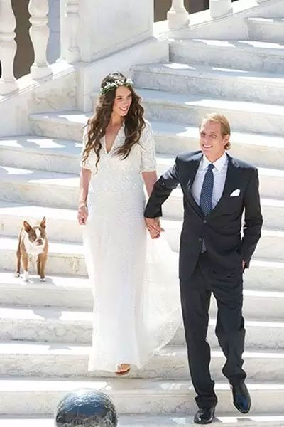 Andrea Casiraghi of Monaco and Tatiana Santo Domingo, August 31 2013