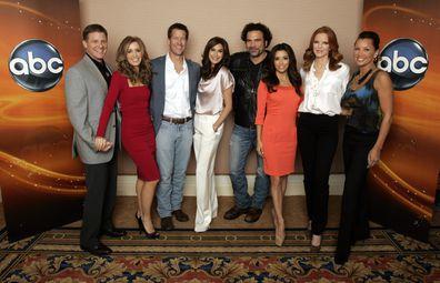 Desperate Housewives, cast, Doug Savant, Felicity Huffman, James Denton, Teri Hatcher, Ricardo Chavira, Eva Longoria, Marcia Cross, Vanessa Williams, press tour