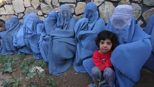Burqa-clad women in Afghanistan. (AAP)