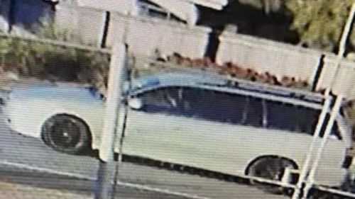 Police are looking for a silver Holden Commodore station wagon with black mag wheels.
