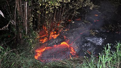 Authorities have said the lava flow is impossible to stop or redirect. (Getty)