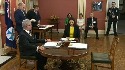 Annastacia Palaszczuk is sworn in as Premier of Queensland.