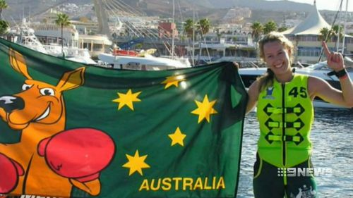 Sarah Teelow crashed while racing at speeds of 130 kilometres per hour. Picture: 9NEWS