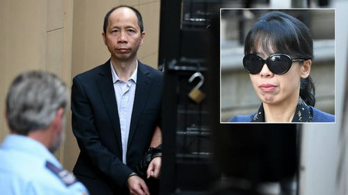 Kathy Lin told the NSW Supreme Court jury her husband had stayed at home on the night of the murders. (9NEWS)