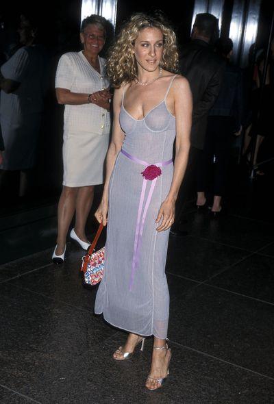 Sarah Jessica Parker at the season three premiere of <em>Sex and the City</em>, 2000