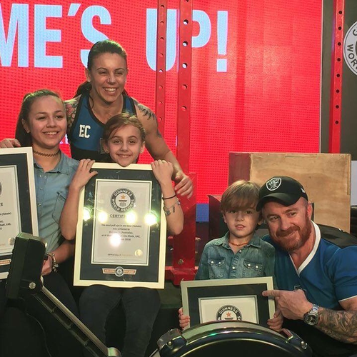 The fitness guru moved to the Middle East in Abu Dhabi six years ago with her husband Scott and three children. Picture: Supplied