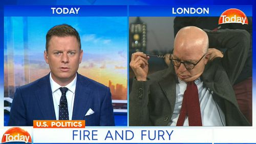 """After saying he """"couldn't hear"""" Fordham, Mr Wolff took off his earpiece and walked off set. (TODAY)"""