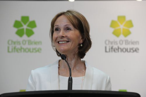 Gail O'Brien has carried on her husband's legacy by changing countless lives through the Chris O'Brien Lifehouse. (AAP)