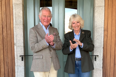 Prince Charles and Camilla also joined in from their home in Scotland.