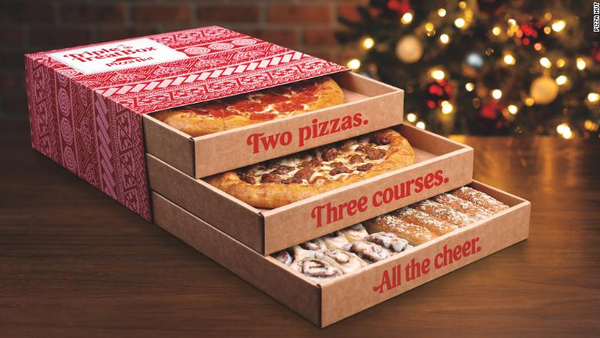 Pizza Hut Triple-Decker box for Christmas