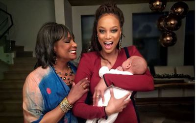 "<p>Tyra Banks and partner Erik Asla welcomed their first child, York, via surrogate in January 2016. On Mother's Day the model shared this sweet pic of herself, her son and her mother.</p> <p>""I'm hearing, 'Happy Mother's Day' and I can't believe how lucky I am! Of all the fashionable hats I wear, I love being a #mother the most,"" she wrote.</p>"