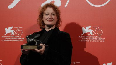 Director Jennifer Kent holds the Special Jury Prize award for 'The Nightingale' at the awards photo call of the 75th edition of the Venice Film Festival in Venice, Italy, Saturday, Sept. 8, 2018