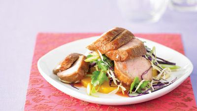 "Recipe:&nbsp;<a href=""http://kitchen.nine.com.au/2016/05/13/11/24/barbecue-pork-and-pineapple-salad"" target=""_top"">Barbecue pork and pineapple salad</a>"