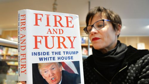 "Journalist Michael Wolff's book ""Fire and Fury"", which covers the first year of the Trump presidency, suggested a tangible ""slipping"" in Mr Trump's ""mental powers"" leading to him constantly repeating himself. Image: PA"