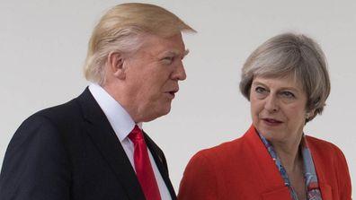 Donald Trump and Theresa May Washington visit.