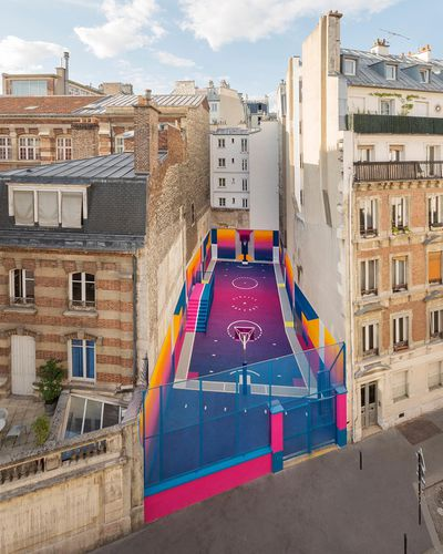<strong>Basketball Court, Rue Duperre, Paris, France</strong>