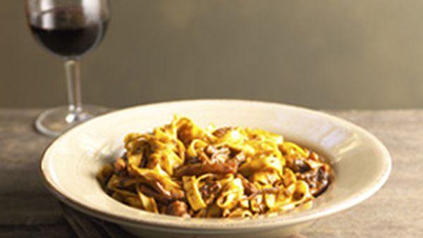 Fettuccine with calamari ragu