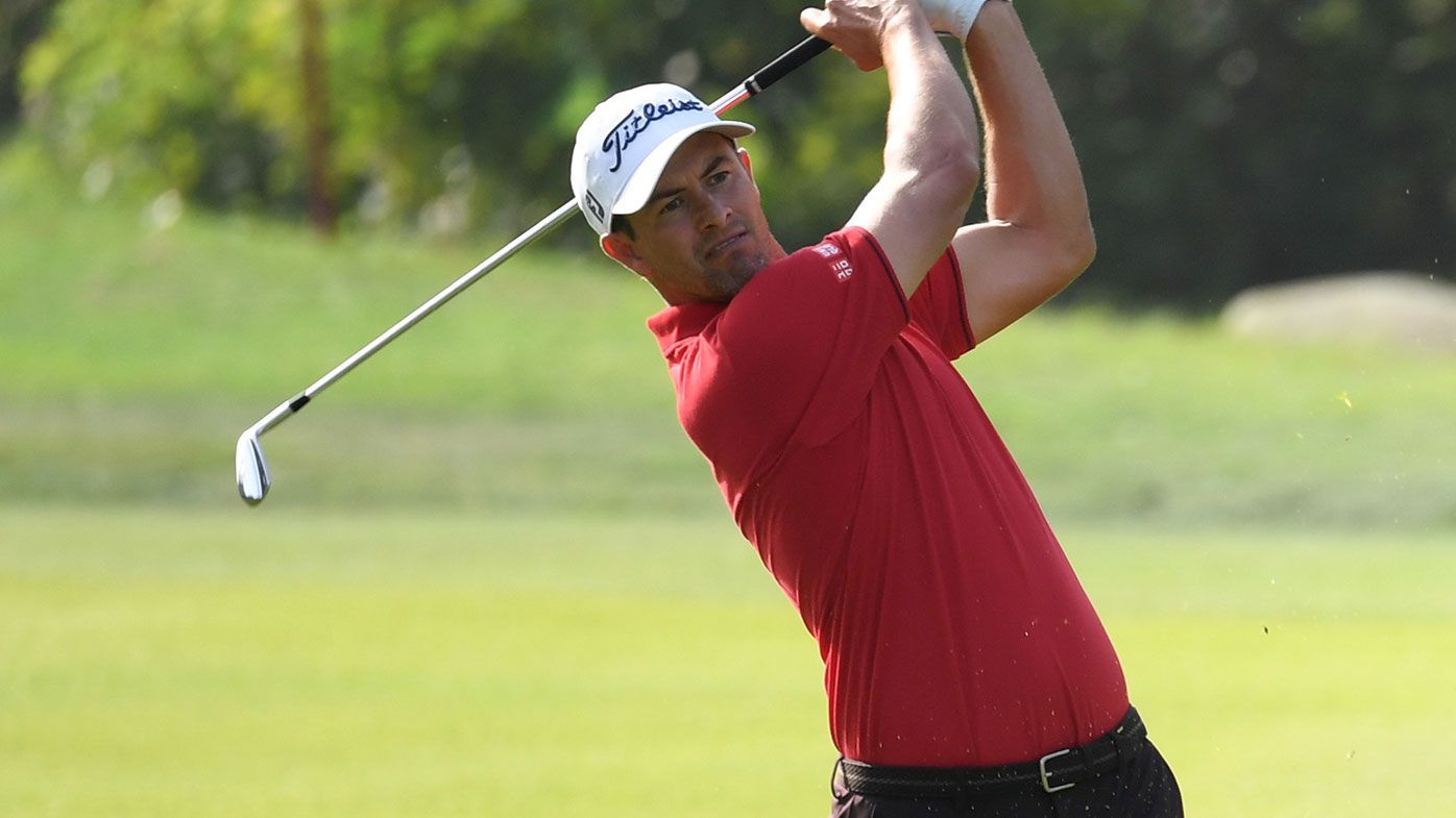 Adam Scott is well placed after the first round of the HSBC-Champions.