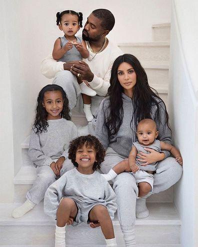 Kim Kardashian, Kanye West, family