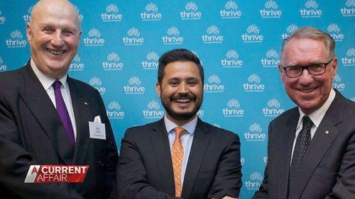 Allianz chairman John Curtis, Thrive CEO Mahir Momand, and philanthropist David Gonski.
