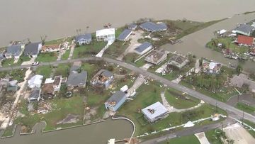 9RAW: Aerial footage shows Hurricane Harvey aftermath in Rockport