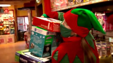Santa's elves ran over to toy store Hamleys to grab all the items on their list