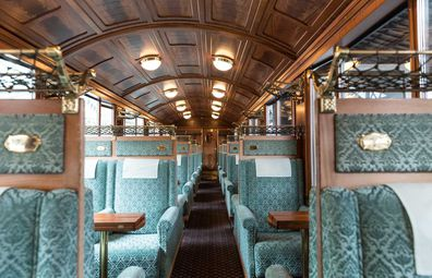 Eurail Swiss train carriage interiors