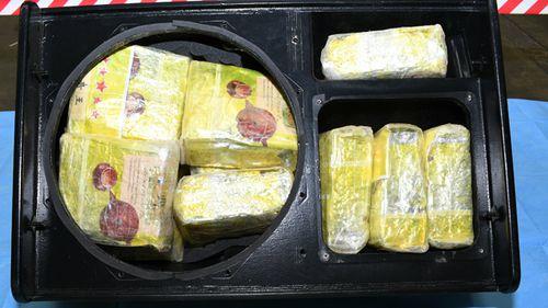 Methamphetamine loaded inside one of the speakers, destined for the Australia market.
