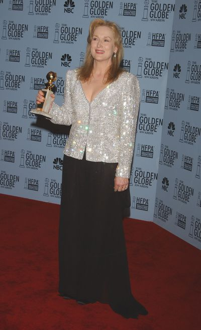 Streep looked sleek and stylish at the height of the Armani-era at the Golden Globes in 2003.