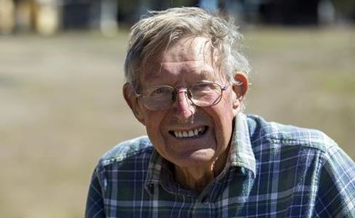 Albert Smith left a medical facility in Ballan on Monday.